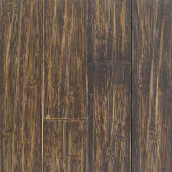 Distress Black Walnut Horizontal Hawa Bamboo Flooring 3-3/4
