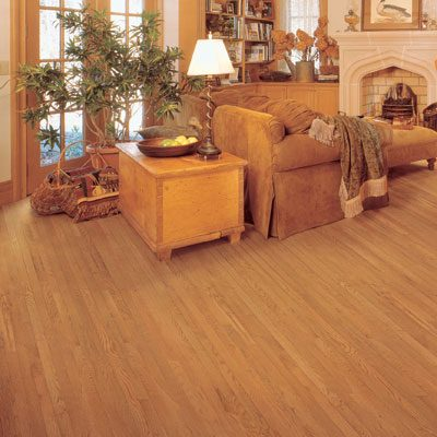 "Oak Solid Mullican Flooring 3"" Gunstock"