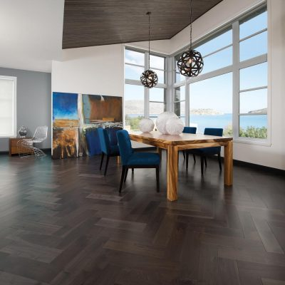 """Knotty Walnut Solid Mirage 4-1/4"""" Charcoal"""