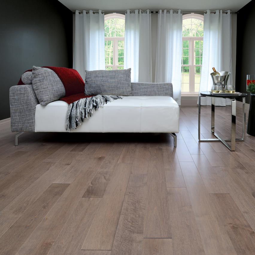 "Hardwood Flooring Nj: Maple Solid Mirage 4-1/4"" Greystone"