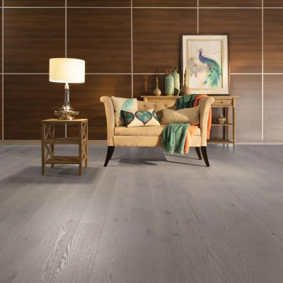 """White Oak Engineered Mirage 6-1/2"""" Grey Drizzle Light Character"""