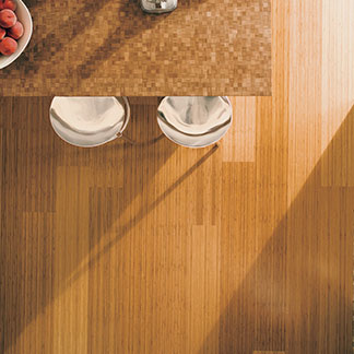 Vertical Grain Caramelized Teragren Bamboo Wide Plank
