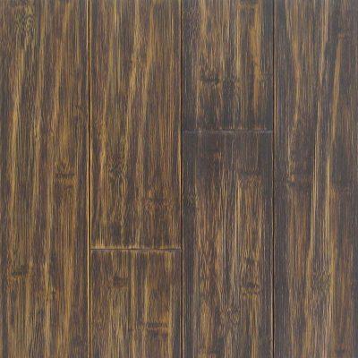 Distress Black Walnut Horizontal Hawa Bamboo Flooring 3-3/4