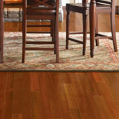 Solid Brazilian Walnut Hardwood Flooring: Brazilian Walnut Solid IndusParquet Flooring 5-1/2