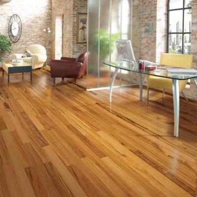 Tigerwood Solid Lauzon Flooring 3-1/4 Natural Semi-Gloss