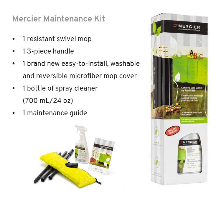 Mercier wood floors maintenance kit